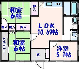 大和田マンション[2階]の間取り
