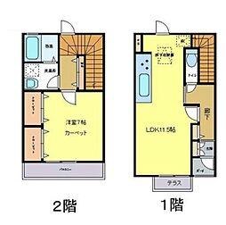 [タウンハウス] 東京都八王子市みなみ野2丁目 の賃貸【/】の間取り