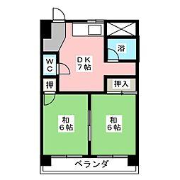 三和ハイツ日吉ビル[5階]の間取り