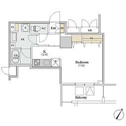 〜築浅物件 カスタリア人形町III〜[8階]の間取り