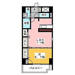 エクレール桶狭間 B棟[2階]の間取り