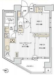 デュオヴェール飯田橋[7階]の間取り