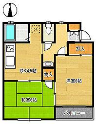 メゾングリーンパークS-1[2階]の間取り