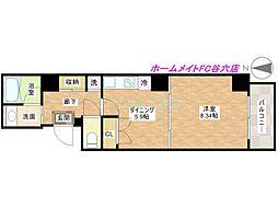 Peridot内平野町[6階]の間取り