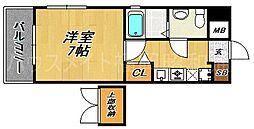 オリエンタルH-MK[8階]の間取り