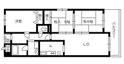 ラポール観音寺[2階]の間取り