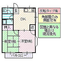 コーポさとう A[203号室号室]の間取り