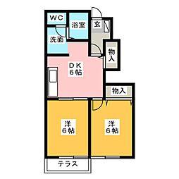 パーシモンガーデン[1階]の間取り
