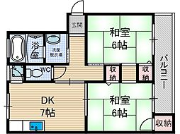 奈良コーポ[1階]の間取り