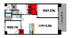 汐見ハイツ[4階]の間取り