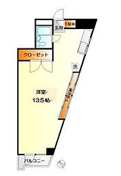 神奈川県大和市中央林間1丁目の賃貸マンションの間取り