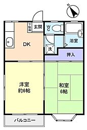 サン秀和[1階]の間取り