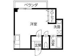 ドムドーラ[2階]の間取り