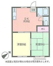 ファミール桜花園[103号室]の間取り