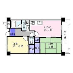 サニーコートナカイ[3階]の間取り