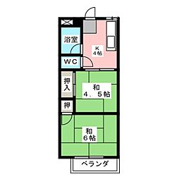 美津乃マンション[3階]の間取り