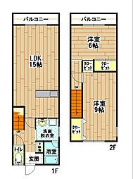 [テラスハウス] 福岡県北九州市小倉南区南方1丁目 の賃貸【/】の間取り