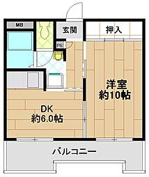 メゾン三宮[5階]の間取り