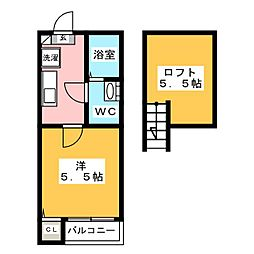 ベアーレ井尻[2階]の間取り