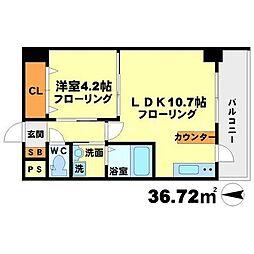 第7アローズ江坂公園[10階]の間取り