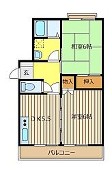 第2YSハイツ[1階]の間取り