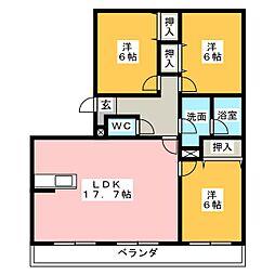 VIP−IN太平洋サウスヒルズ[1階]の間取り