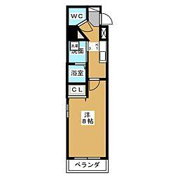 カスタリア名駅南[5階]の間取り