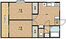 第2藤ハウス[1階]の間取り
