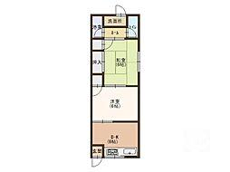 上神田1 貸家[1階]の間取り