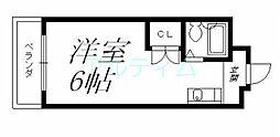 京都府京都市東山区今熊野阿弥陀ケ峯町の賃貸マンションの間取り