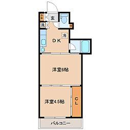 シャングリラ大和町[6階]の間取り