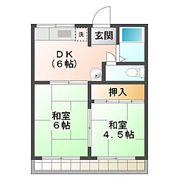 NSプレイス[2階]の間取り
