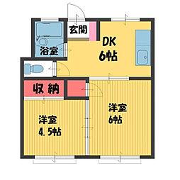 メゾン豊島[3階]の間取り