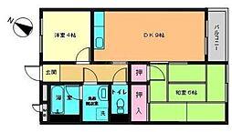 神奈川県横浜市旭区中白根1丁目の賃貸マンションの間取り