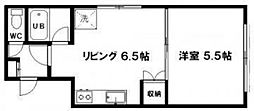 サンセレクト東札幌 II[101号室]の間取り