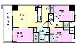 東京都練馬区大泉町6丁目の賃貸マンションの間取り