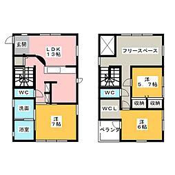 [一戸建] 愛知県春日井市南下原町1丁目 の賃貸【/】の間取り