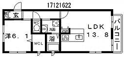山清庵[2階]の間取り
