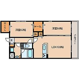 兵庫県尼崎市武庫之荘8丁目の賃貸マンションの間取り