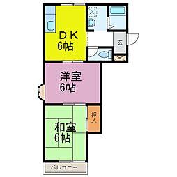ドミールハセ[2階]の間取り