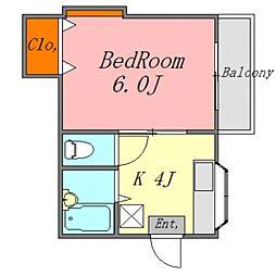 パルコ中央[105号室号室]の間取り