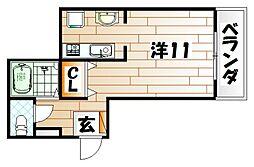 Fab Flat[2階]の間取り