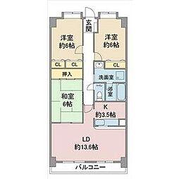 リーフマンション グランディア[3階]の間取り
