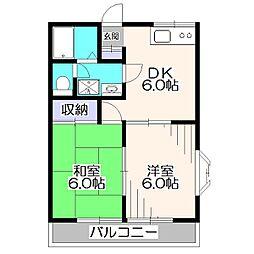 セントラルハイム[2階]の間取り
