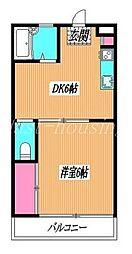 東京都小金井市緑町5丁目の賃貸マンションの間取り