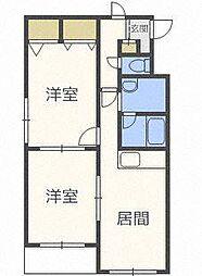 第15大岡ビル[2階]の間取り