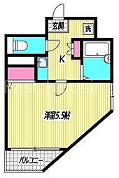 東京都練馬区下石神井4丁目の賃貸マンションの間取り