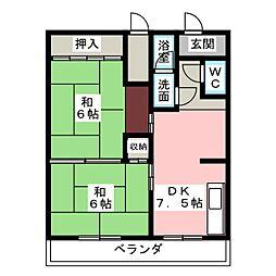 スチューデントハイツ原[3階]の間取り