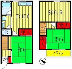 [テラスハウス] 千葉県鎌ケ谷市南初富2丁目 の賃貸【/】の間取り