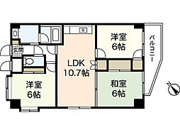 JR山陽本線 広島駅 徒歩22分の賃貸マンション 7階3LDKの間取り
